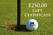 $250.00 Pro Shop Gift Certificates